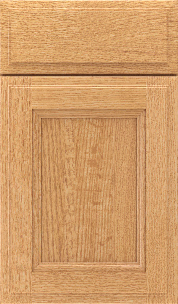 Roslyn Quartersawn Oak Shaker Style Cabinet Door in Natural