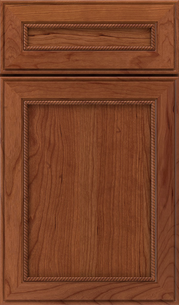Savannah 5 Piece Cherry Flat Panel Cabinet Door in Brandywine