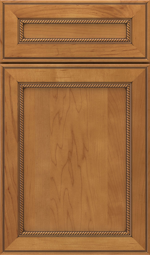 Savannah 5 Piece Maple Flat Panel Cabinet Door in Coriander Coffee