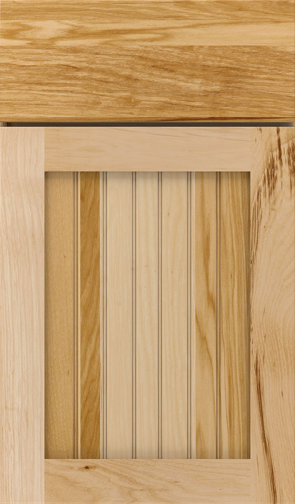 Simsbury Hickory Beadboard Cabinet Door in Natural