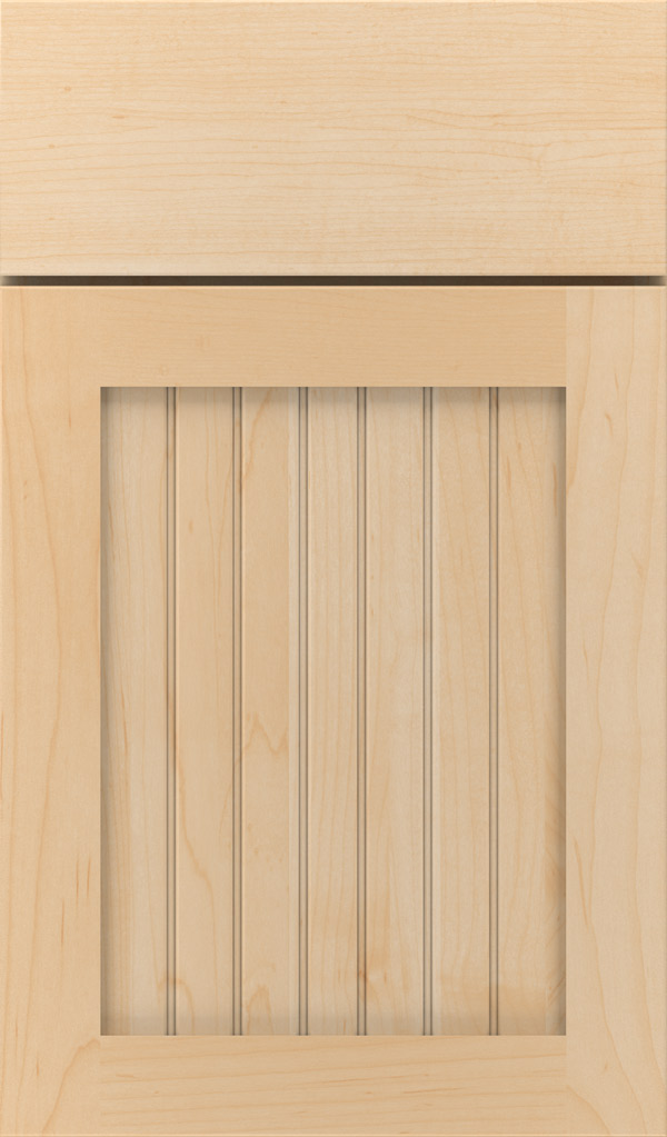Simsbury Maple Beadboard Cabinet Door in Natural