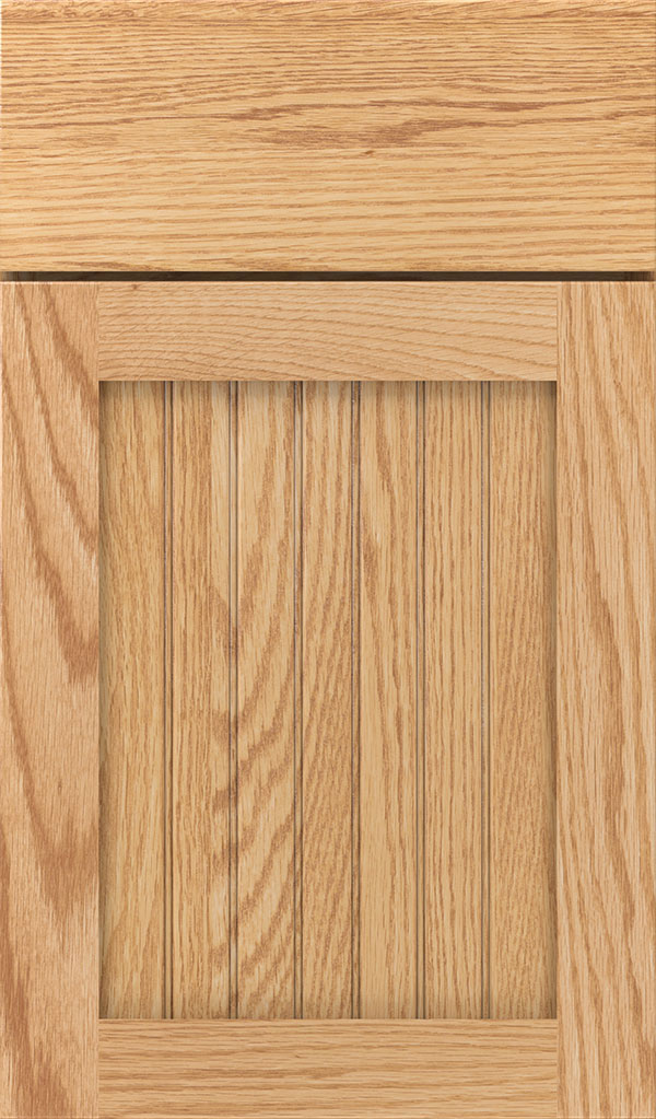 Simsbury Oak Beadboard Cabinet Door in Natural