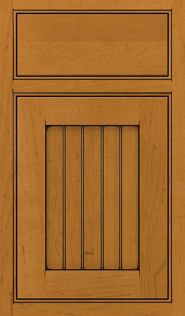Simsbury Maple Beaded Inset Cabinet Door in Natural Coffee