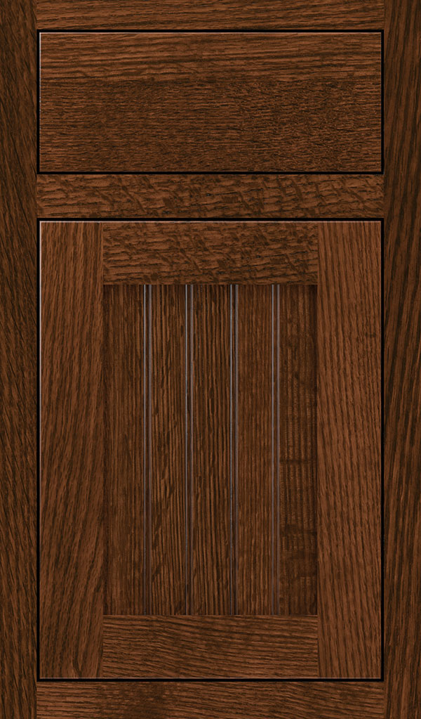 Simsbury Quartersawn Oak Inset Cabinet Door in Sepia