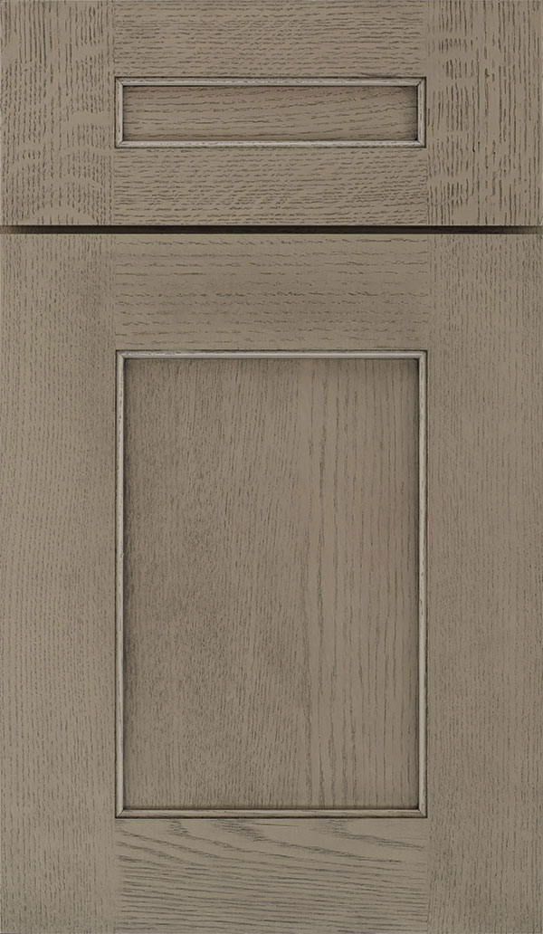 Sloan 5 Piece Quartersawn Oak Recessed Panel Cabinet Door in Angora