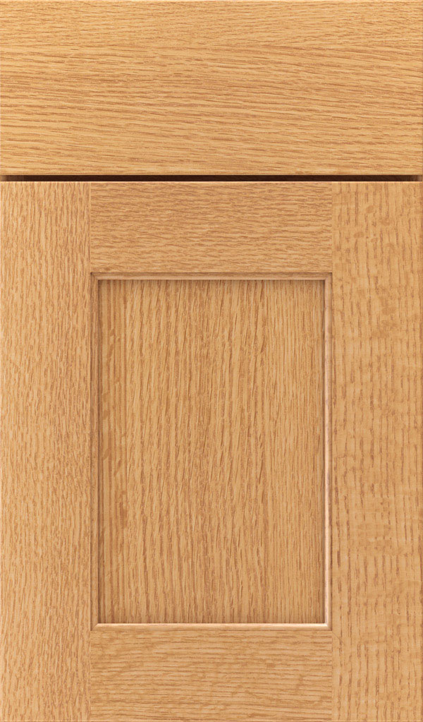 Sloan Quartersawn Oak Recessed Panel Cabinet Door in Natural