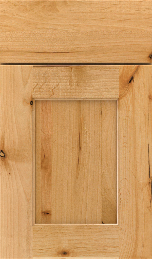 Sloan Rustic Alder Recessed Panel Cabinet Door in Natural