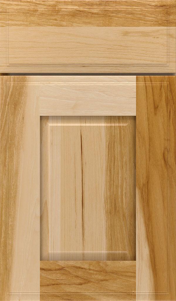 Tobi; Toulan Hickory Raised Panel Cabinet Door in Natural & Natural Cabinet Finish on Hickory - Decora Cabinetry