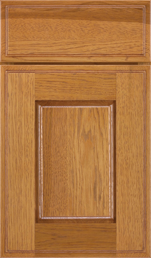 Toulan Hickory Raised Panel Cabinet Door in Wheatfield Bronze