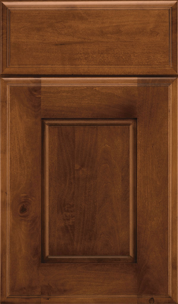 Toulan Maple Raised Panel Cabinet Door in Sepia