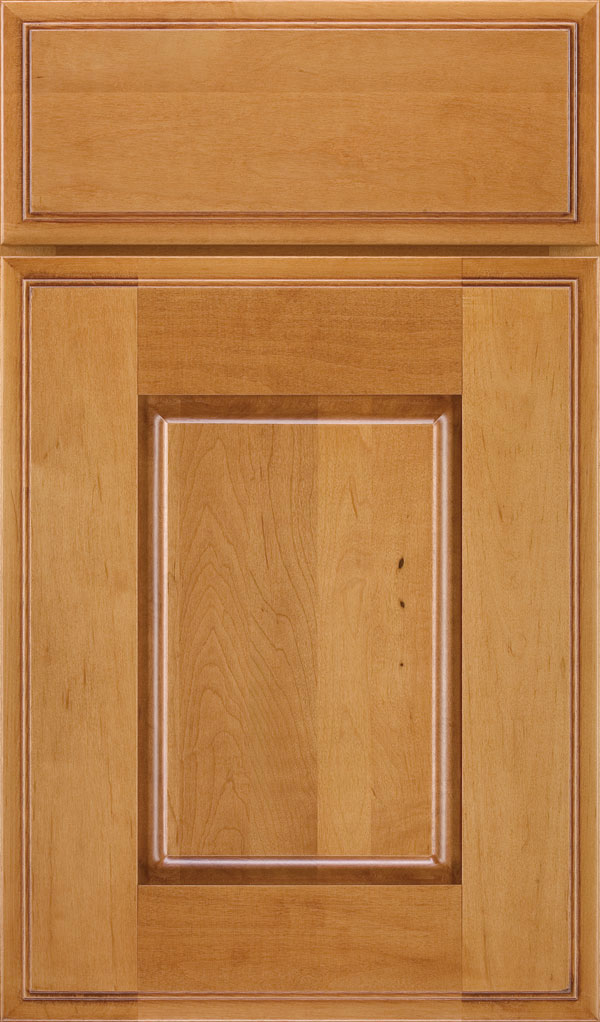 Toulan Maple Raised Panel Cabinet Door in Wheatfield Bronze
