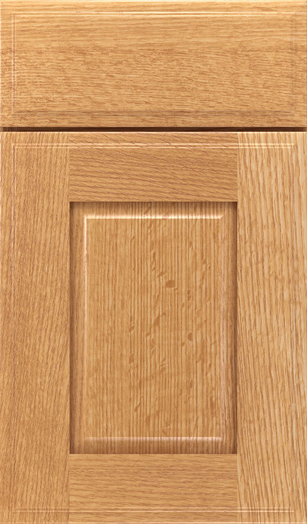 Toulan Quartersawn Oak Raised Panel Cabinet Door in Natural