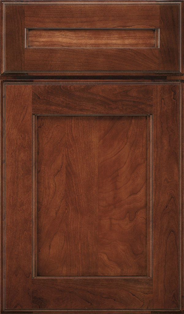 Treyburn 5 Piece Cherry Recessed Panel Cabinet Door in Arlington Espresso