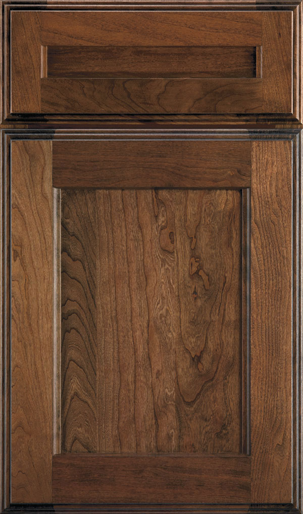 Treyburn 5 Piece Cherry Recessed Panel Cabinet Door in Mink Espresso