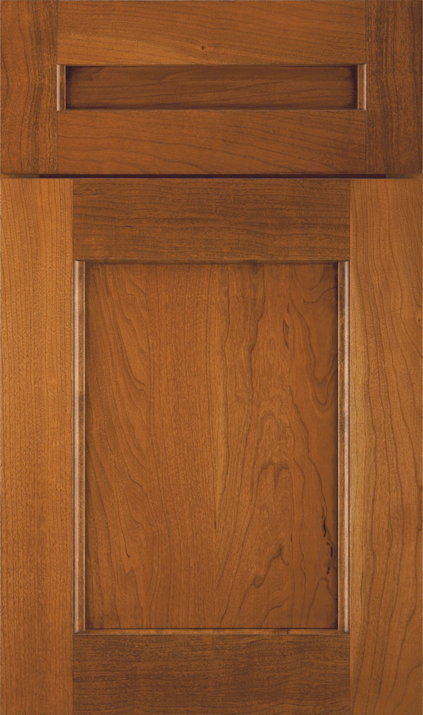 Treyburn 5 Piece Cherry Recessed Panel Cabinet Door in Sienna Coffee