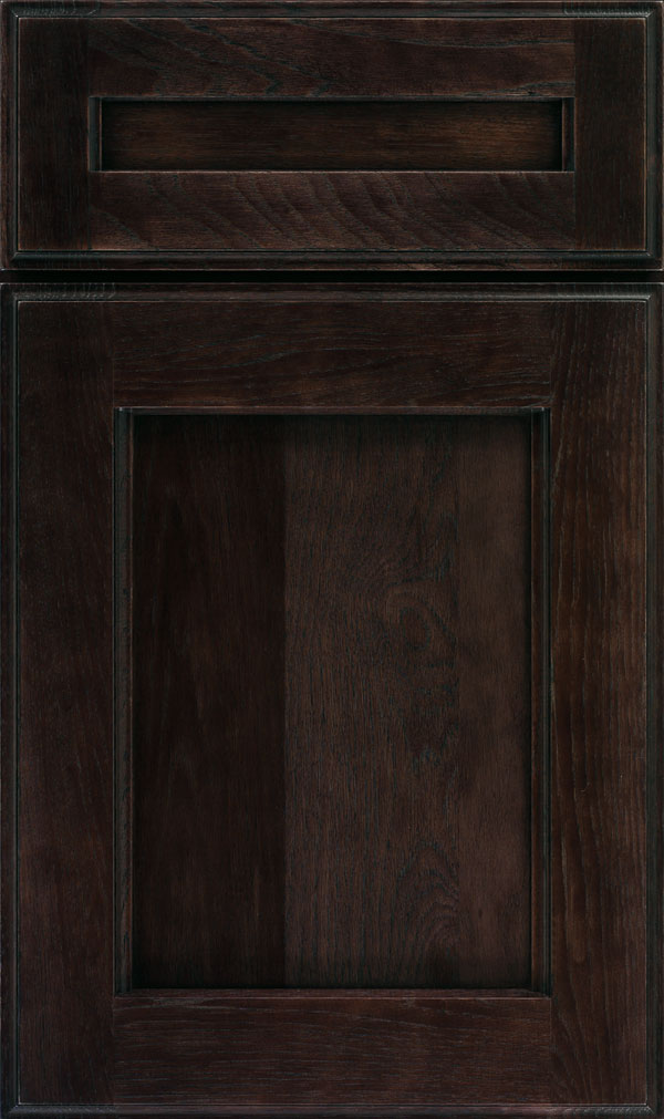 Treyburn 5 Piece Hickory Recessed Panel Cabinet Door in Teaberry