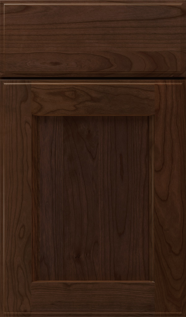 Treyburn Cherry recessed panel cabinet door in Bombay
