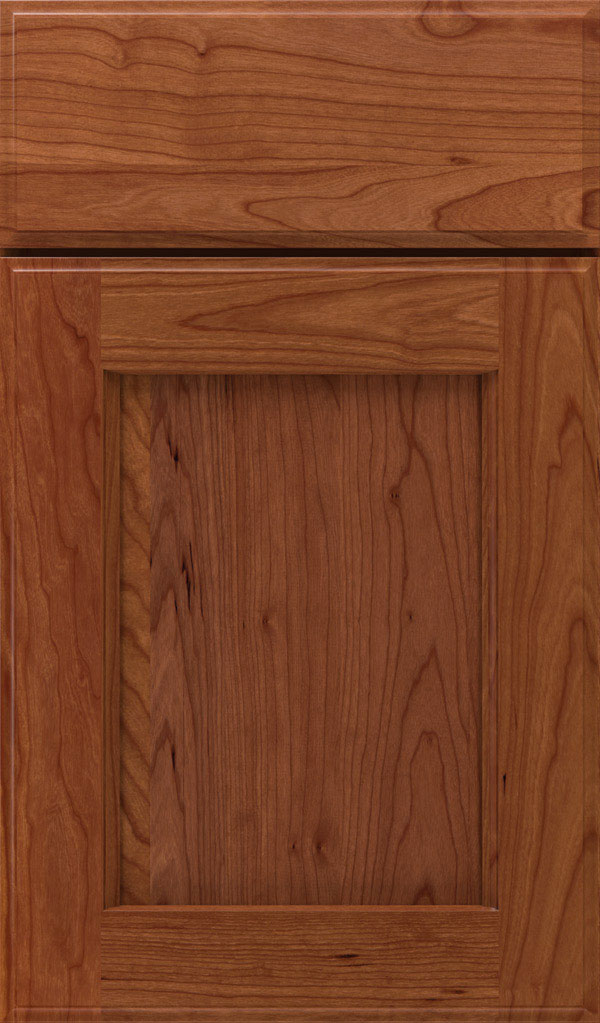 Treyburn Cherry recessed panel cabinet door in Brandywine