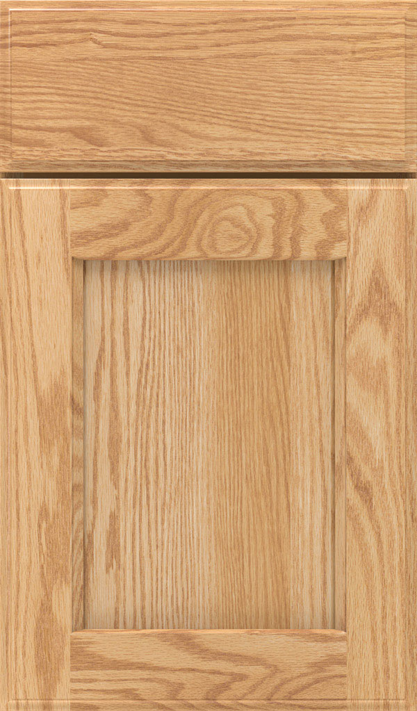 Treyburn Oak recessed panel cabinet door in Natural