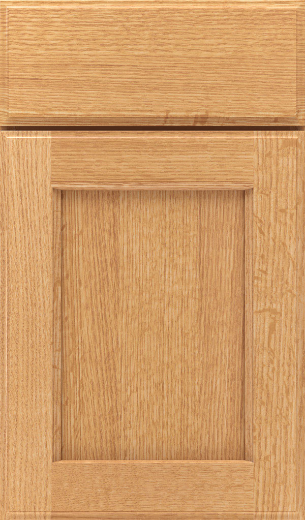 Treyburn Quartersawn Oak recessed panel cabinet door in Natural