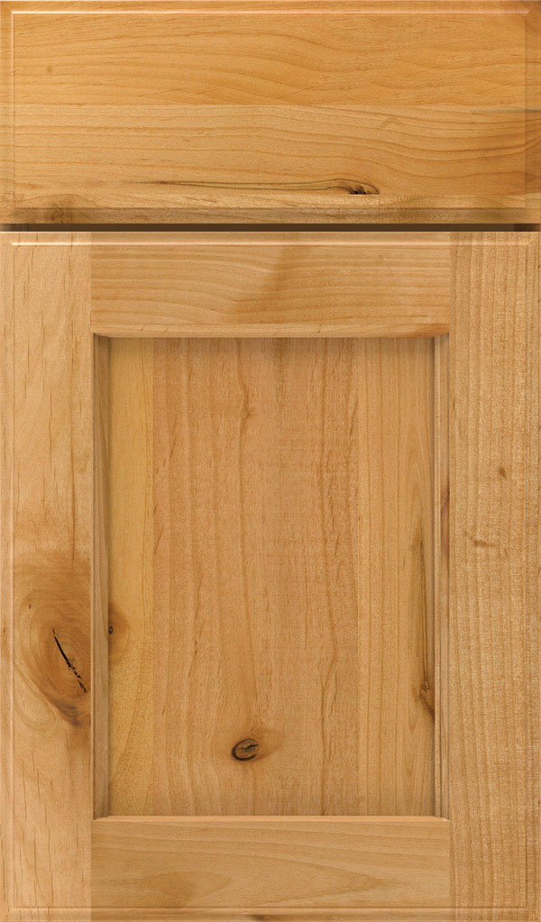 Treyburn Rustic Alder recessed panel cabinet door in Natural