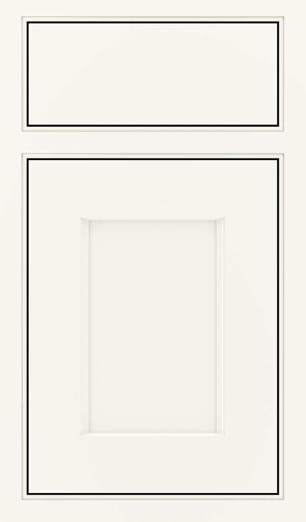 Treyburn Maple Beaded Inset Cabinet Door in White