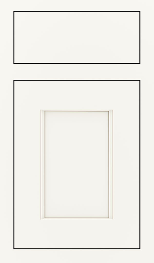 Treyburn Maple Inset Cabinet Door in White Twilight