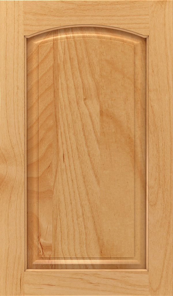 Verona Alder Arched Raised Panel Cabinet Door in Natural