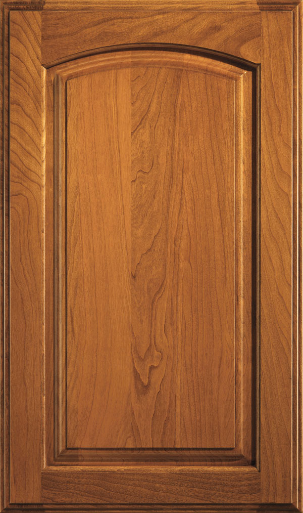 Verona Cherry Arched Raised Panel Cabinet Door in Sienna Coffee