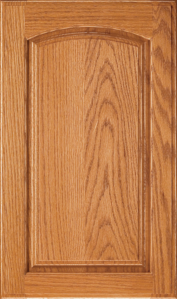 Verona Oak Arched Raised Panel Cabinet Door in Wheatfield