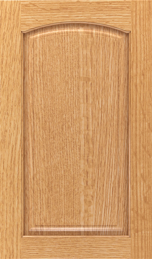 Verona Quartersawn Oak Arched Raised Panel Cabinet Door in Natural