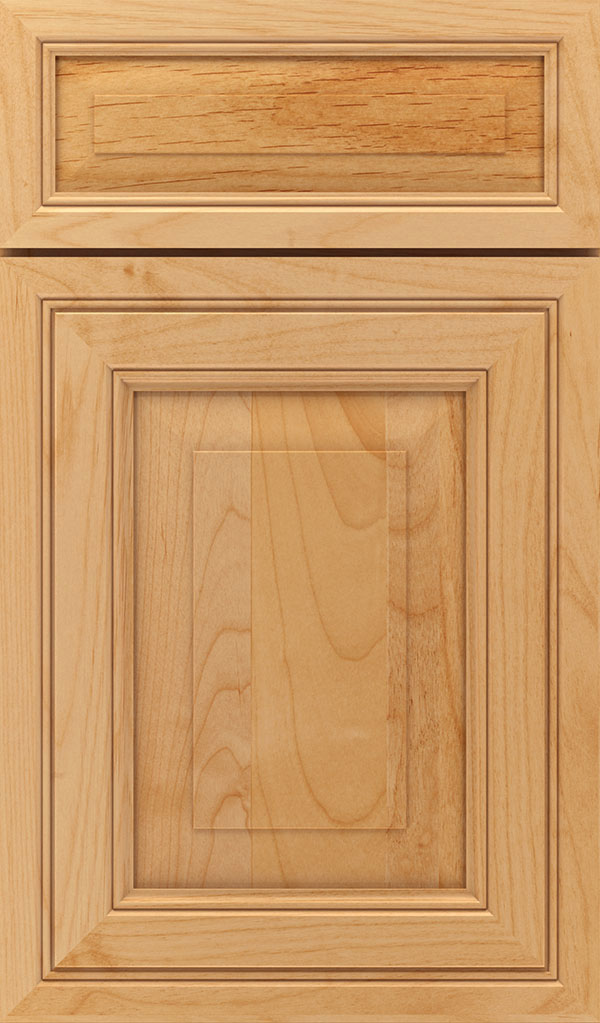 Willshire 5 Piece Alder Raised Panel Cabinet Door in Natural