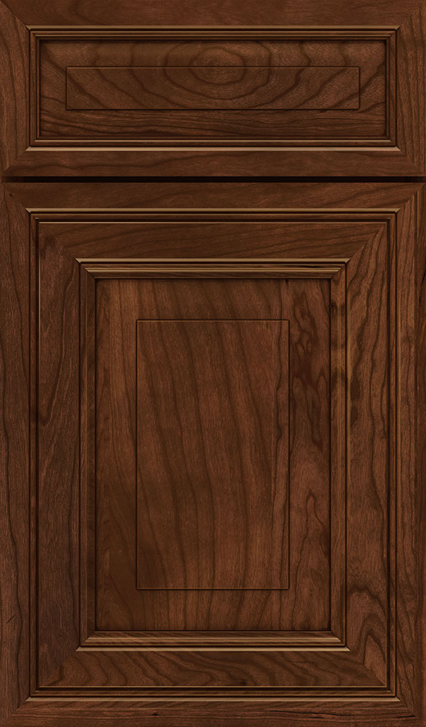 Willshire 5 Piece Cherry Raised Panel Cabinet Door in Arlington Espresso