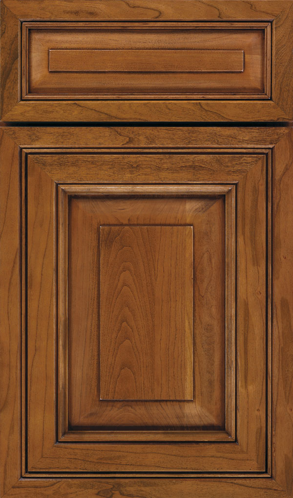 Willshire 5 Piece Cherry Raised Panel Cabinet Door in Brandywine Coffee