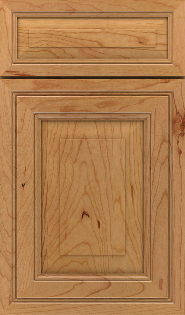 Willshire 5 Piece Cherry Raised Panel Cabinet Door in Natural