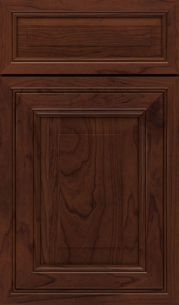 Willshire 5 Piece Cherry Raised Panel Cabinet Door in Sepia
