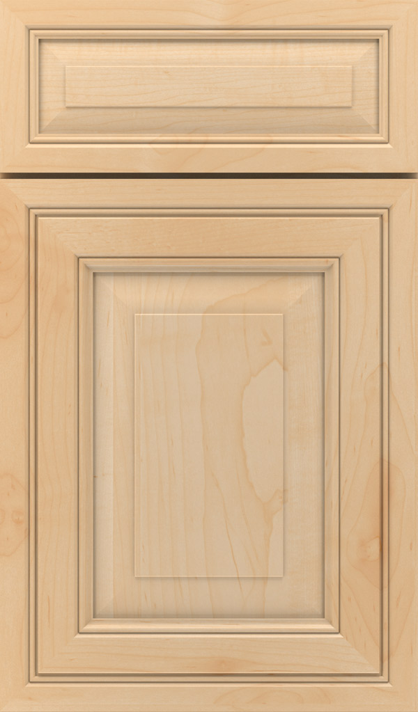 Willshire 5-Piece Maple Raised Panel Cabinet Door in Natural