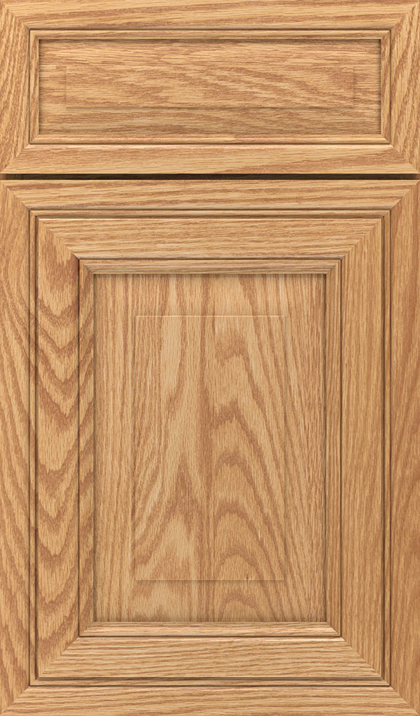Willshire 5 Piece Oak Raised Panel Cabinet Door in Natural