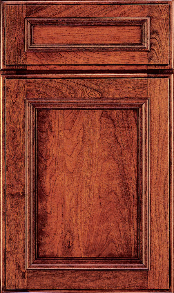 Yardley 5 Piece Cherry Raised Panel Cabinet Door in Arlington Espresso