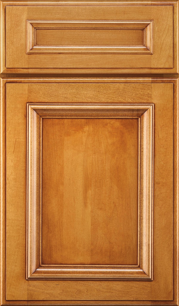 Yardley 5 Piece Maple Raised Panel Cabinet Door in Wheatfield Bronze