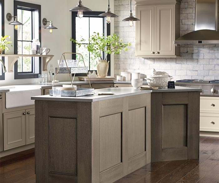 Brown Oak Kitchen Cabinets: Taupe Kitchen Cabinets