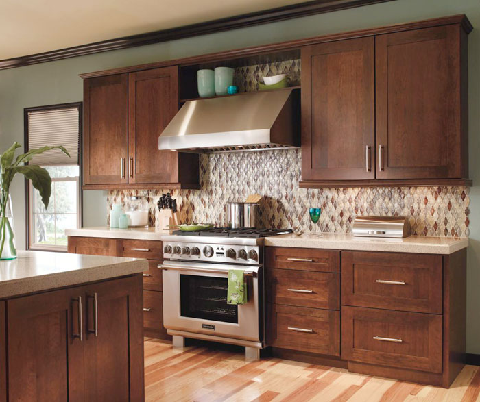 Contemporary Cherry Kitchen Cabinets By Decora Cabinetry ...