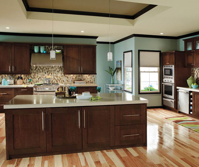 ... Contemporary Cherry Kitchen Cabinets By Decora Cabinetry ...
