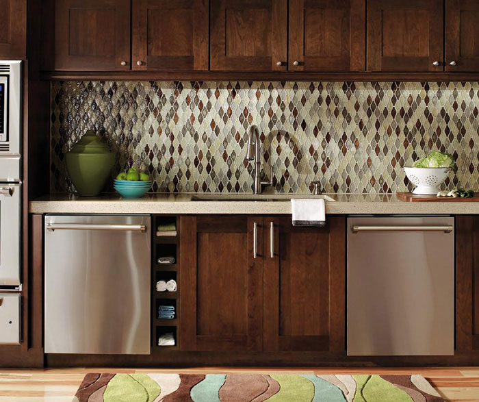 Contemporary Cherry kitchen cabinets by Decora Cabinetry