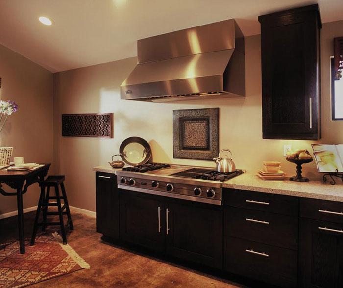Galley Kitchen Oak Cabinets: Contemporary Galley Kitchen Design