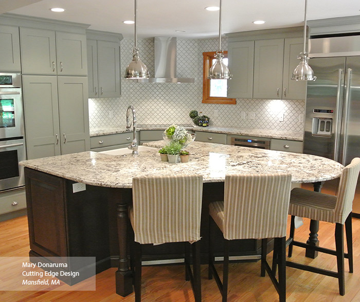 ... Open Kitchen Design With Painted Maple Artisan Cabinets And Dark Cherry  Maxwell Cabinets ...