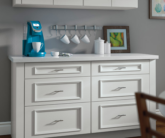 White Atwater Cabinets With Built In K Cup Storage ...