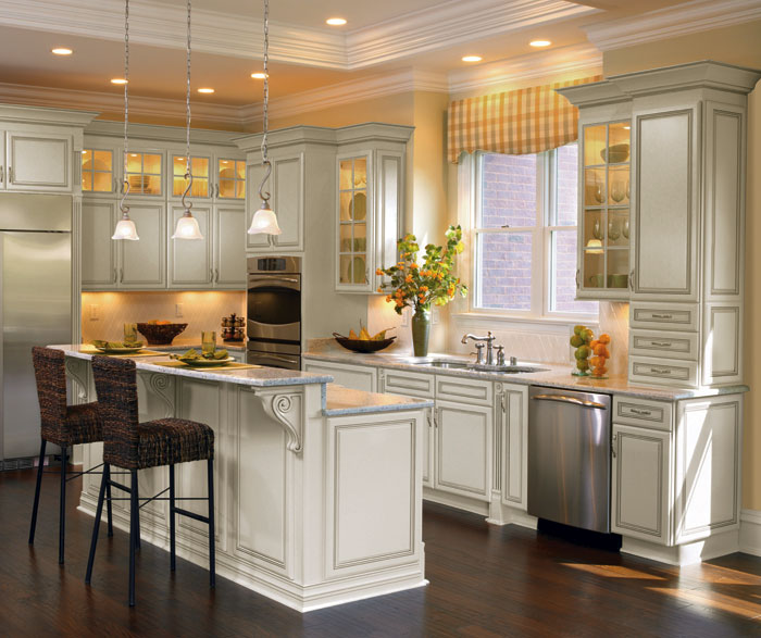 Off White Cabinets With Glaze By Decora Cabinetry ...