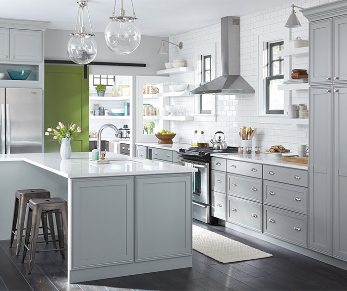 Gray And White Kitchens Cabinet Stain: Light Gray Kitchen Cabinets