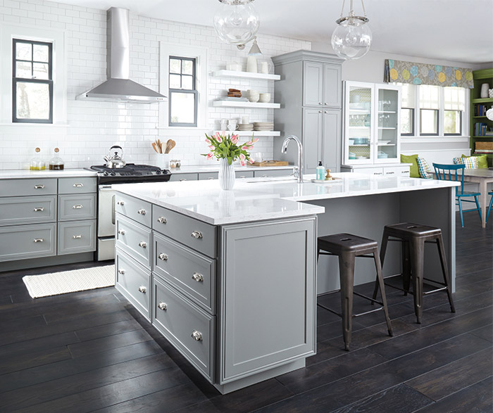 Light Gray Kitchen Cabinets - Decora Cabinetry